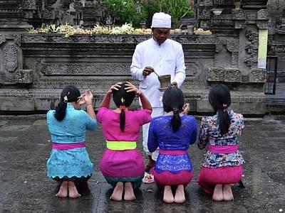 Exploramum Photograph - Bali Temple Women Blessing by Exploramum Exploramum