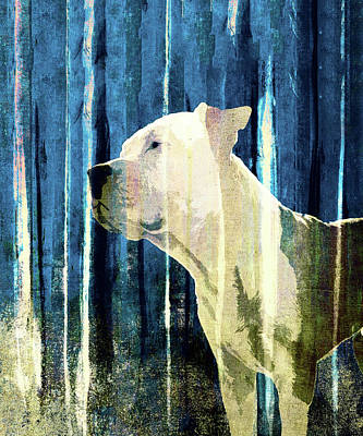 Puppies Digital Art - Bali The Dog Abstract Background by Filippo B