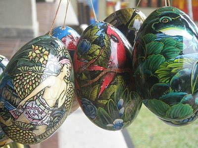Music Figurative Potraits - Bali Wooden Eggs Artwork by Mark Sellers