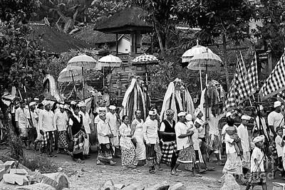Photograph - Balinese Ceremonial Processio by Craig Lovell