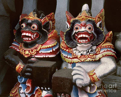 Photograph - Balinese Hindu Sculpture - Two Barongs by Sharon Hudson