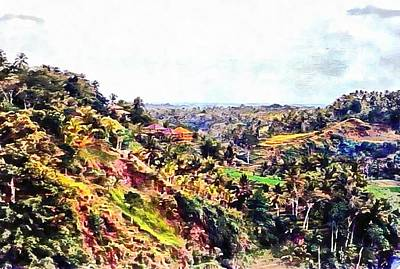 Photograph - Balinese Landscape by Dorothy Berry-Lound