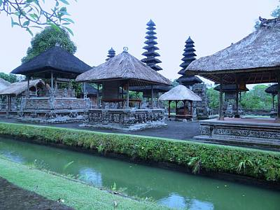 Education By Traveling Photograph - Balinese Temple By The Water by Exploramum Exploramum