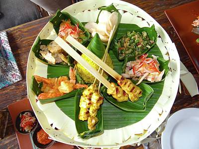 Photograph - Balinese Traditional Satay Dinner by Exploramum Exploramum