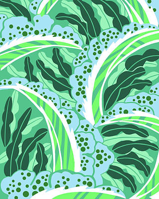 Digital Art - Balinesia Blue Green Dream by Nancy Lorene