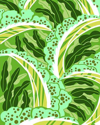 Digital Art - Balinesia Green Scene by Nancy Lorene