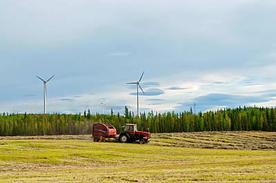 Photograph - Baling Hay - Delta Junction Alaska by Cathy Mahnke