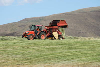 Ira Marcus Royalty-Free and Rights-Managed Images - Baling Hay by Ira Marcus