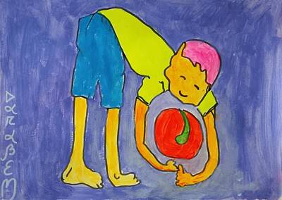 Mental Painting - Ball And Boy by Darabem Artist
