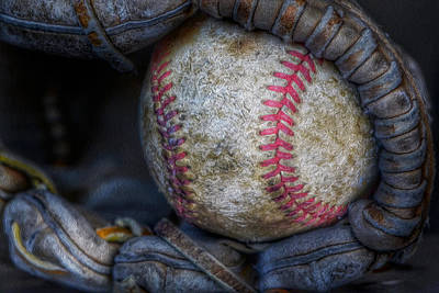 Photograph - Ball And Mitt by Bill Owen
