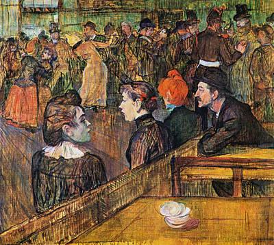Dance Halls Painting - Ball At The Moulin De La Galette by Henri de Toulouse-Lautrec