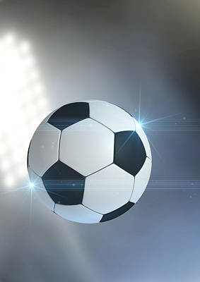 Stadium Digital Art - Ball Flying Through The Air by Allan Swart