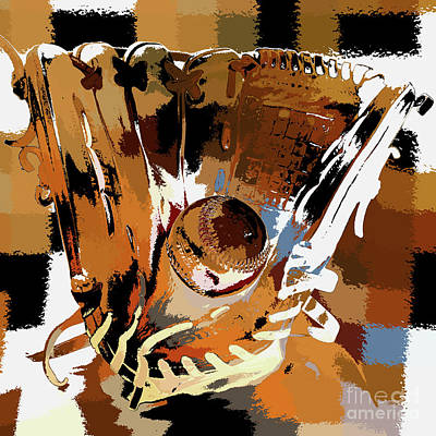 Ball In Glove Abstract Art Print