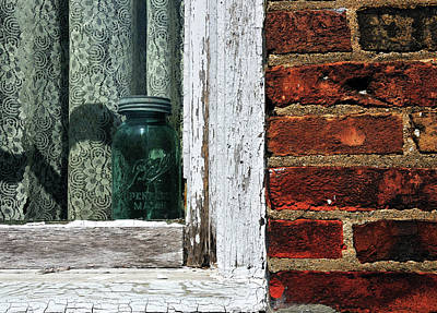 Photograph - Ball Jar In Window by David Arment