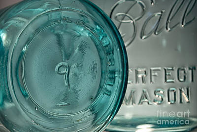 Teal Photograph - Ball Jar No.9 by Pittsburgh Photo Company