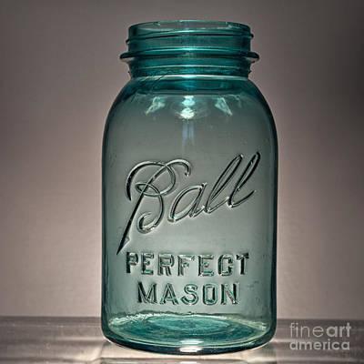 Ball Jar Photograph - Ball Jar Small No Lid 1x1 by Pittsburgh Photo Company