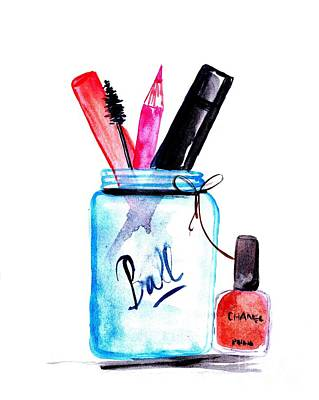 For Salons Painting - Ball Of Makeup by Sweeping Girl