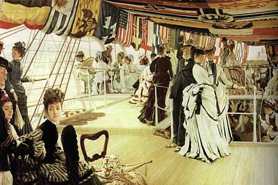 Ball On Shipboard Art Print by James Tissot