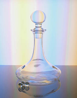 Photograph - Ball Top Glass Decanter In Pastels by Betty Denise