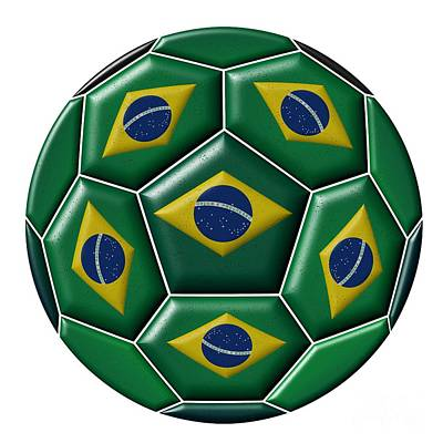 Photograph - Ball With Brazilian Flag by Michal Boubin