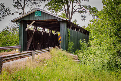 Music Royalty-Free and Rights-Managed Images - Ballard Road Covered Bridge by Jack R Perry