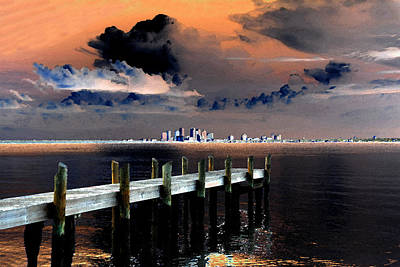 Summer Thunderstorm Painting - Ballast Point by David Lee Thompson