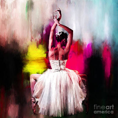 Ballerina Painting - Ballerina 0891 by Gull G