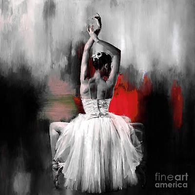 Ballerina Artwork Painting - Ballerina 0892 by Gull G