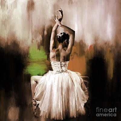 Ballerina Artwork Painting - Ballerina 0893 by Gull G
