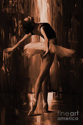 Ballerina Artwork Painting - Ballerina 0uix by Gull G