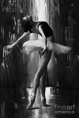 Ballerina Artwork Painting - Ballerina 0xd03 by Gull G