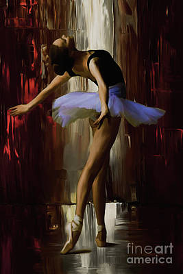 Ballerina Artwork Painting - Ballerina 0xd09 by Gull G