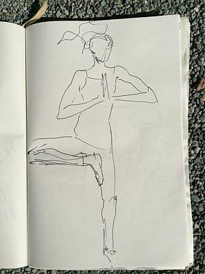 Drawing - Ballerina 1 by Elizabeth Parashis