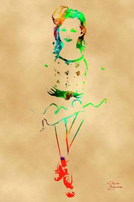 Mixed Media - Ballerina 2 by David Millenheft