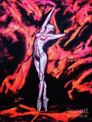 Painting - Ballerina 2 by Viktor Lazarev