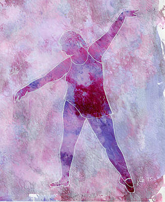 Painting - Ballerina - Adult 2 by Lori Kingston