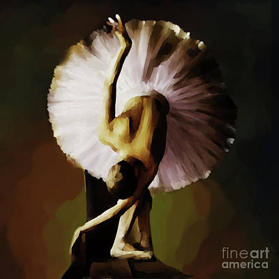 Ballerina Artwork Painting - Ballerina Art 021 by Gull G