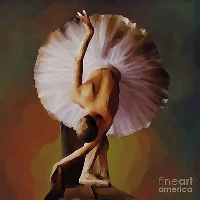 Ballerina Artwork Painting - Ballerina Art 0421 by Gull G