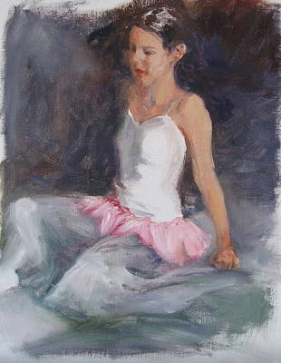 Ballerina At Rest Art Print by Connie Schaertl