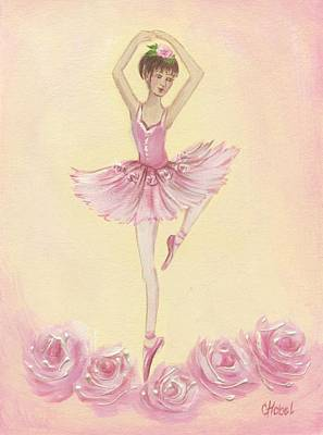 Ballerina Beauty Painting Art Print by Chris Hobel