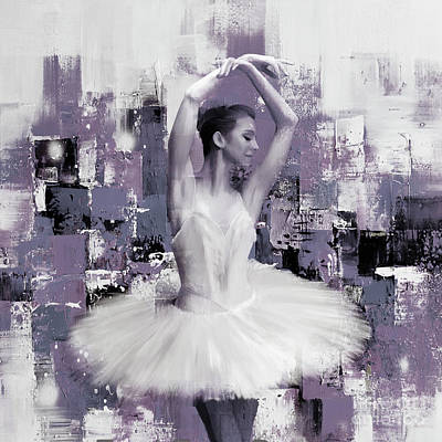 Flower Painting - Ballerina Bnj45 by Gull G