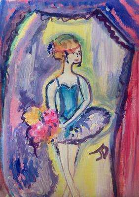 Applause Painting - Ballerina Bouquet by Judith Desrosiers