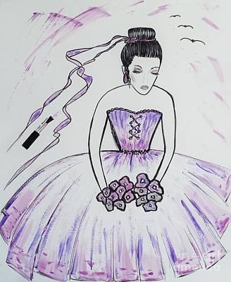 Ballerina Bride  Art Print