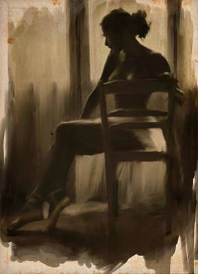 Chairs Digital Art - Ballerina By The Window by H James Hoff