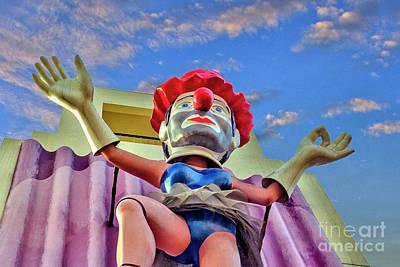Photograph - Ballerina Clown Venice Ca, by David Zanzinger