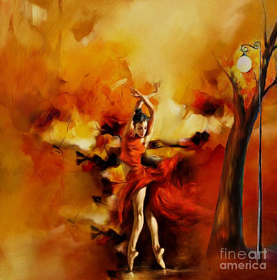 Figure Painting - Ballerina Dance 011 by Gull G