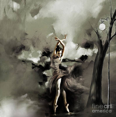 Perform Painting - Ballerina Dance 012 by Gull G