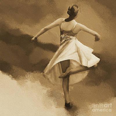 Ballerina Dance 0530 Art Print by Gull G