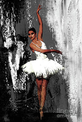 Ballerina Painting - Ballerina Dance 073 by Gull G