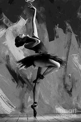 Dancers Painting - Ballerina Dance 0901 by Gull G